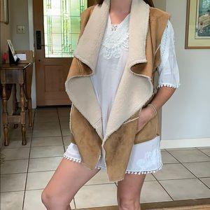 Prana wool sheep skin vest